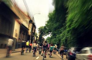 Biciclisti in trafic