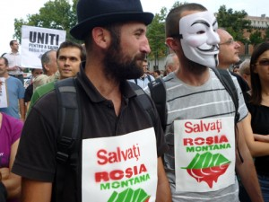 protestatari Rosia Montana
