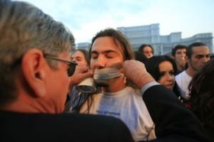 Protest drept la libera exprimare