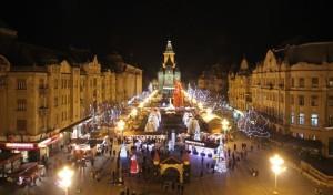 Targ Craciun Timisoara noaptea