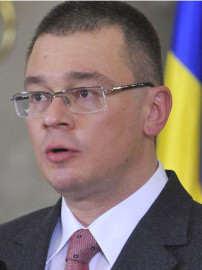 Noul premier desemnat Mihai Razvan Ungureanu face declaratii de presa, la Palatul Cotroceni din Bucuresti