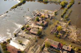 Inundatii Timis foto de sus