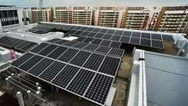 panou solar la bloc