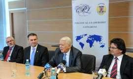 Vasile Boari, Ben Oni Ardelean, Teodor Melescanu si Nicolae Robu, de la stanga la dreapta