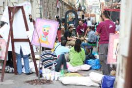 Expozitie pictura in strada Timisoara