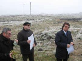 Nicolae Robu pe viitoare plantatie de salcie energetica