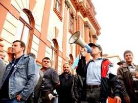Protest sindicat administratie