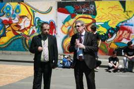Adrian Streinu Cercel la HIV Street Art Timisoara