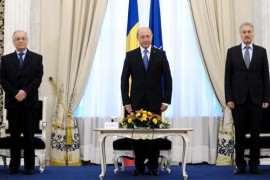 Traian Basescu Ion Iliescu si Emil Constantinescu