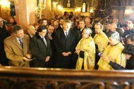 Klaus Iohannis la Catedrala Mitropolitana Foto ACL Timisoara