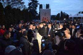Klaus Iohannis la Monumentul Eroilor Timisoar Foto ACL Timis