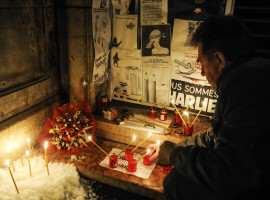 Solidaritate cu jurnalistii de la Charlie Hebdo la Timisoara (2) Foto Constantin Duma
