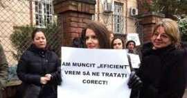 Protest profesori Timisoara