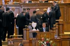 Vot cu bile in Parlament Foto Epoch Times