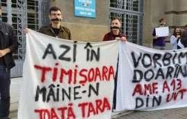 Protest studenti Timisoara Foto Evz