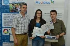 Daniel Rusu si Sorina Voina - marele premiu IDMSC 2014 Foto UPT