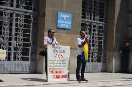 Lucian Caldarar si Beniamin Lup la miting PNL anti-Ponta la Timisoara Foto Ligia Hutu