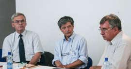 Tokes Laszlo, Florian Mihalcea si Dan Voinea la Societatea Timisoara (2) Foto Costi Duma