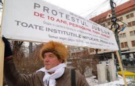 Protest Saul Beloia Foto Adrian Piclisan