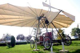 Macheta avion Traian Vuia pe iarba