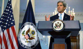 US secretary of state John Kerry delivers remarks on Syria at the State Department in Washington