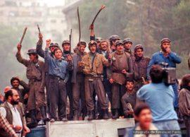 Mineri la Bucuresti iunie 1990 Foto Emanuel Parvu