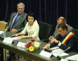 Traian Stancu Roxana Iliescu si Sorin Grindeanu Foto PMP Timis